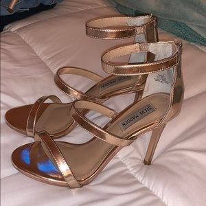 rose gold high heels